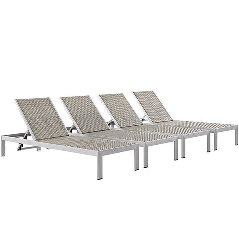 Aprily Set of 4 Outdoor Patio Aluminum Chaise