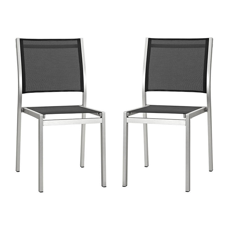 Aprily Side Chair Outdoor Patio Aluminum Set of 2