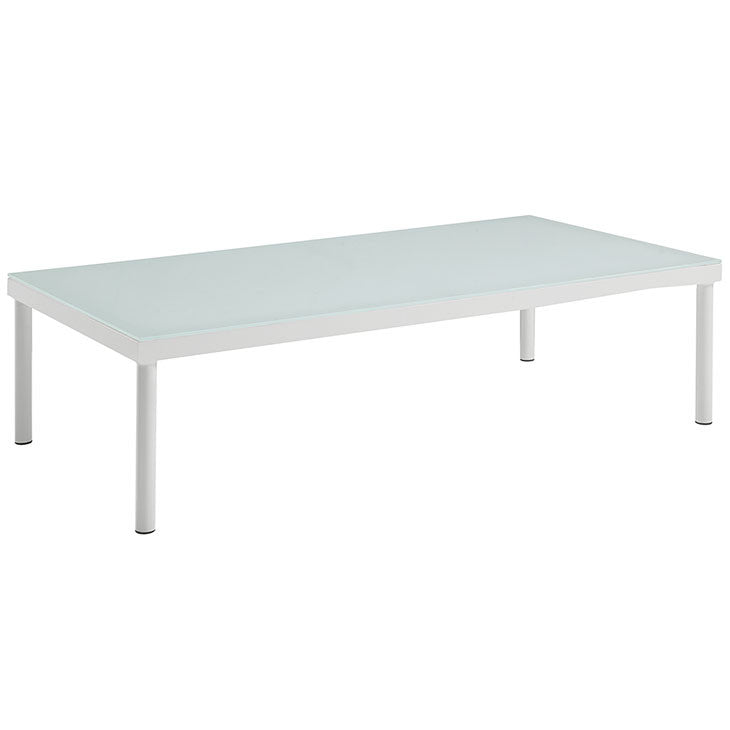 Dally Outdoor Patio Aluminum Coffee Table
