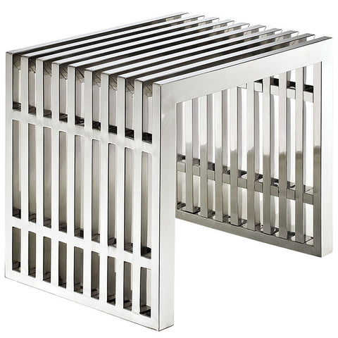 Miltonia Small Stainless Steel Bench