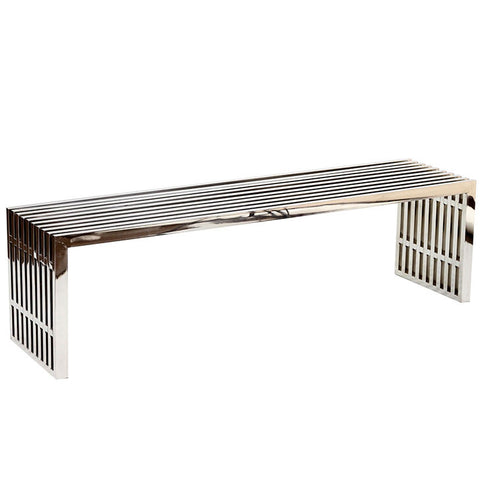 Miltonia Large Stainless Steel Bench