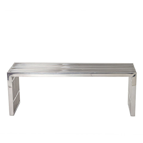 Miltonia Medium Stainless Steel Bench
