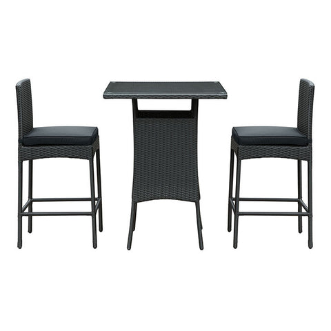 Florene 3 Piece Outdoor Patio Pub Set