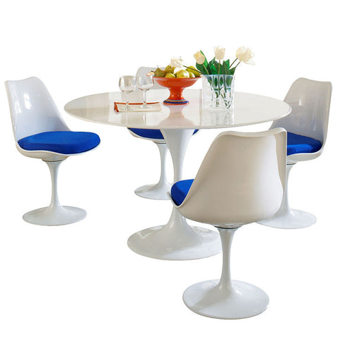 Earlos 5 Piece Fiberglass Dining Set