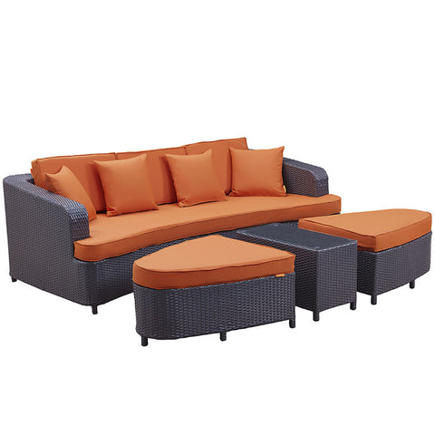 Monterey 4 Piece Outdoor Patio Sofa Set