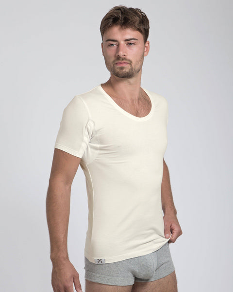 Mens Organic Cotton Sweat Proof Undershirt - MATT KING UNDERCOVER