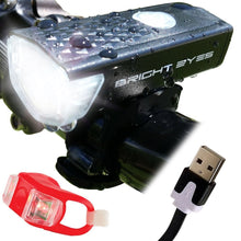 300 Lumen USB Rechargeable Bicycle Headlight Set