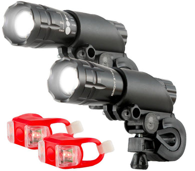 300 Lumen Dual Bicycle Headlight Set