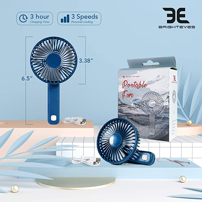 USB Rechargeable Fan 2-Pack