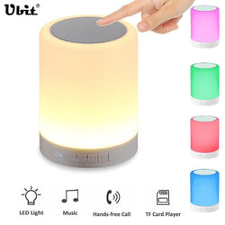 Color changing touch LED Light Lamp. Wireless Bluetooth Speaker.