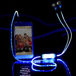 Glowing / Flashing LED Earphone with Microphone