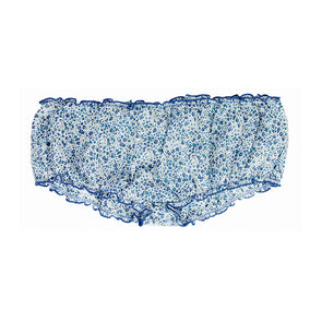 bloomer coton liberty bleu