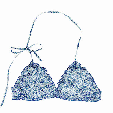 triangle coton liberty bleu