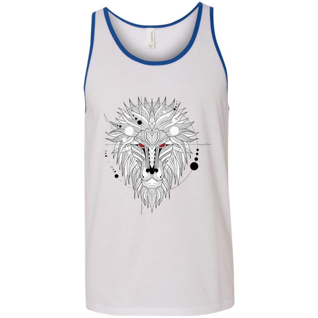 Geometric Lion Tank Top