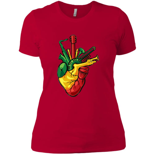 Rasta Heart Ladies' T-Shirt