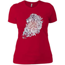 Hand Draw Lion Ladies' T-Shirt