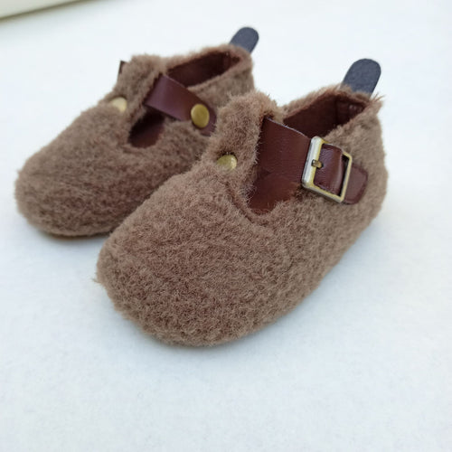 Fluffy Shoe- Brown