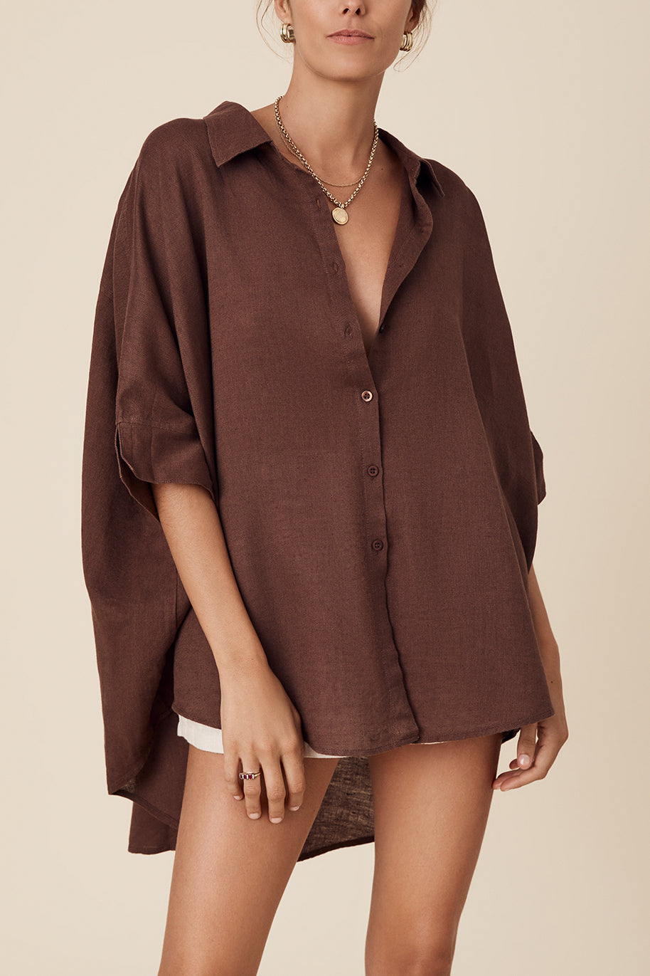 LULA SHIRT - CHOCOLATE