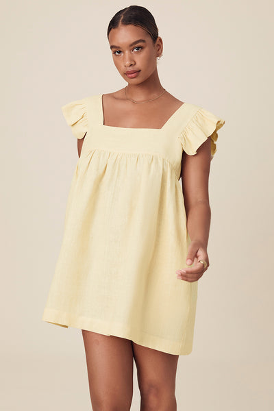 JUDE MINI DRESS - STRAW