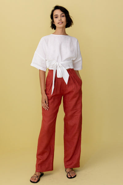PIERRE TROUSER - JAM RED