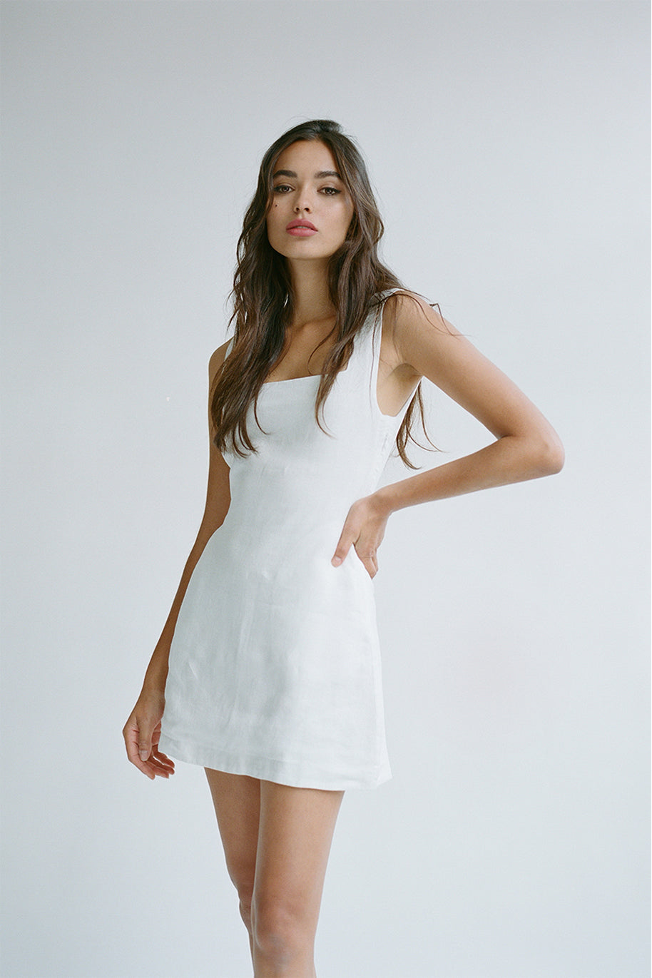 ALICE MINI DRESS - IVORY