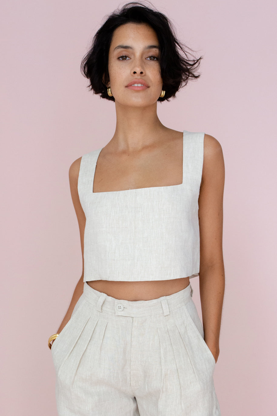 ALICE CROP TOP - NATURAL