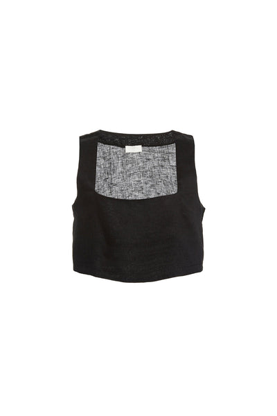 ALICE CROP TOP - BLACK
