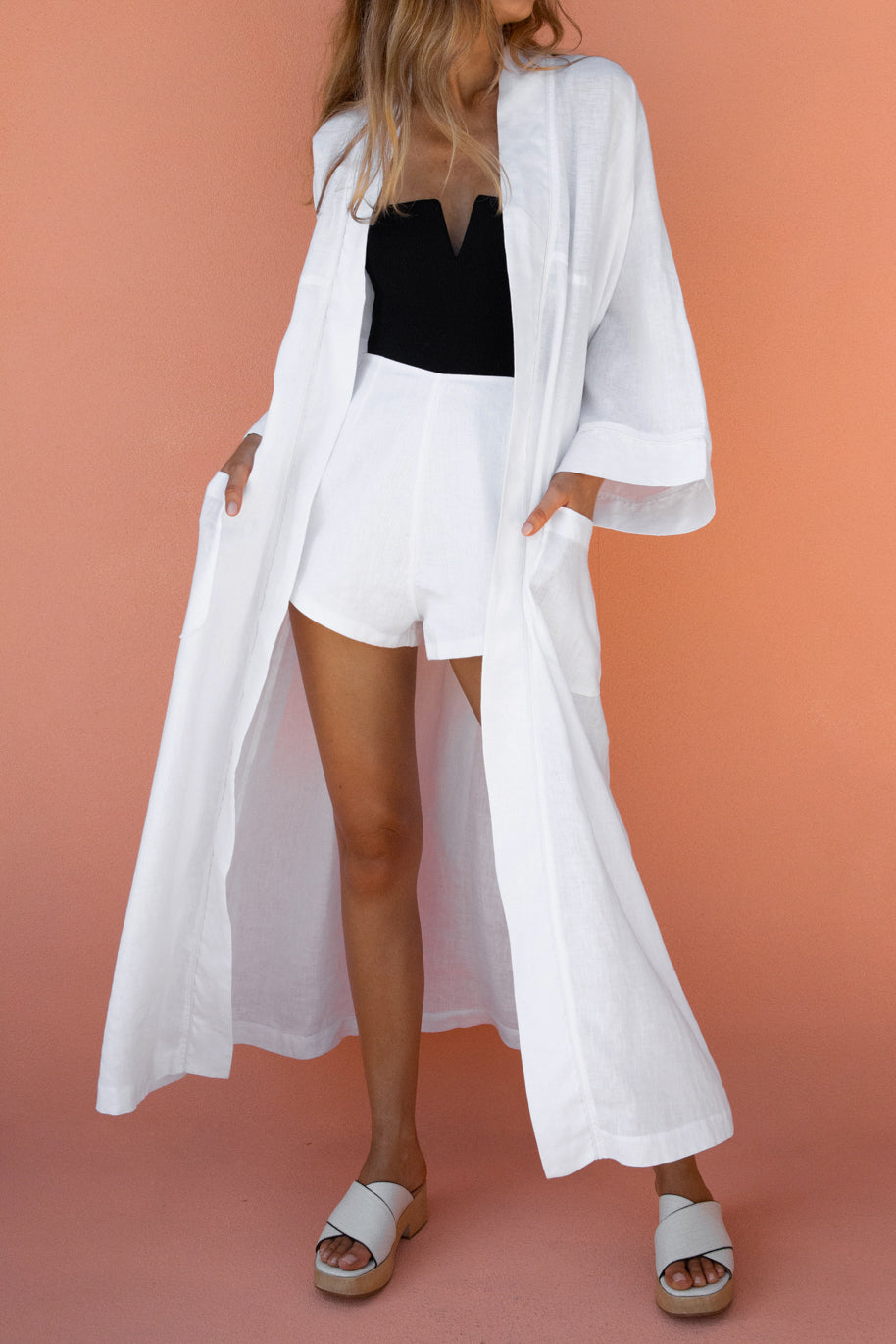 JEROME BEACH ROBE - WHITE