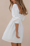 ALLEGRA DRESS - WHITE