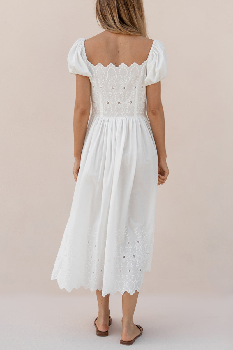 CHARLOTTE DRESS - ANTIQUE WHITE