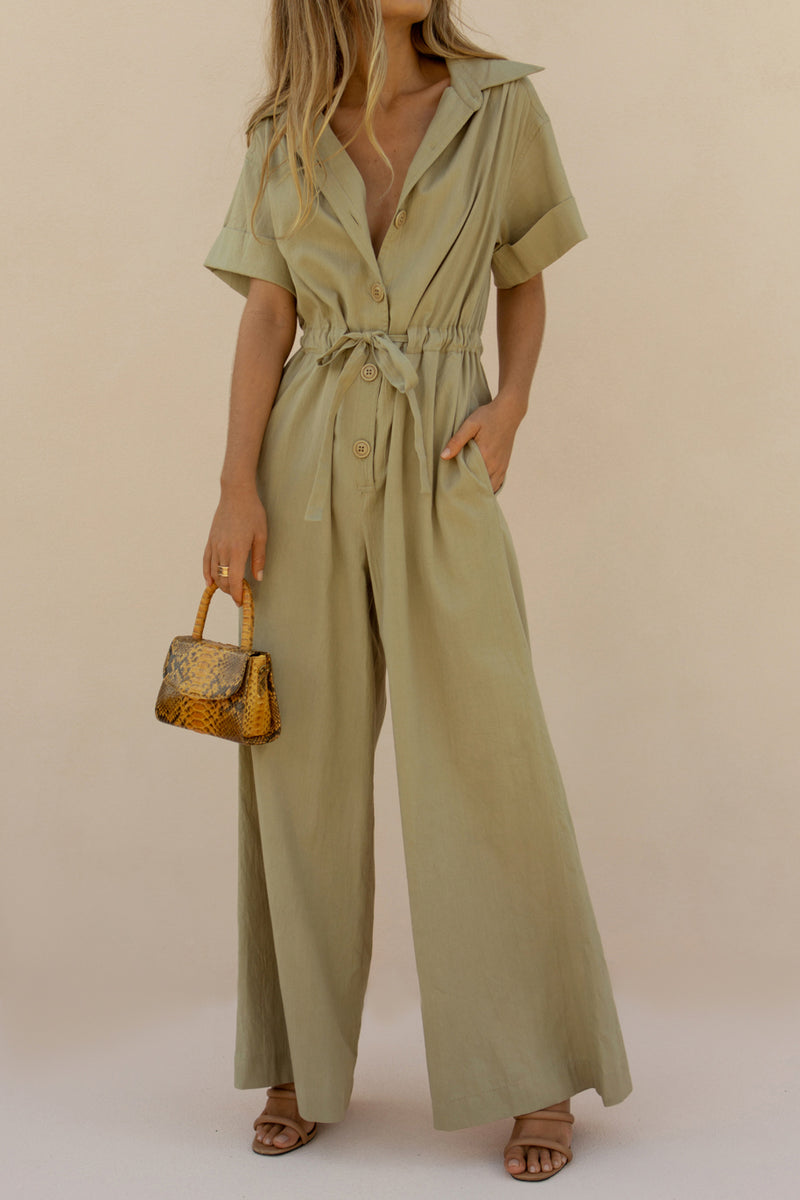 SIMONE JUMPSUIT - FOREST