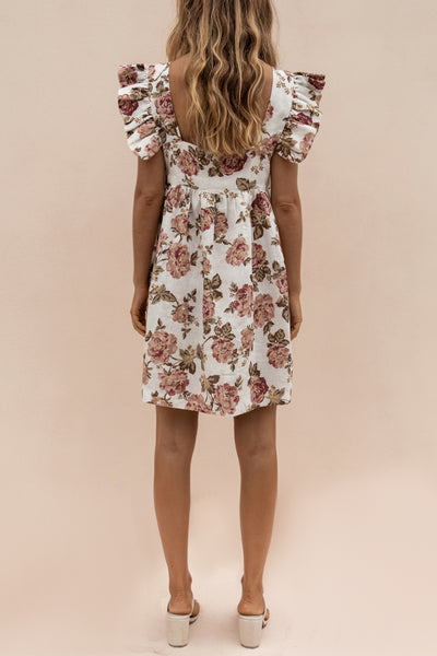 JUDE MINI DRESS - ANTIQUE FLORAL