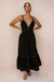 LOTUS DRESS - BLACK