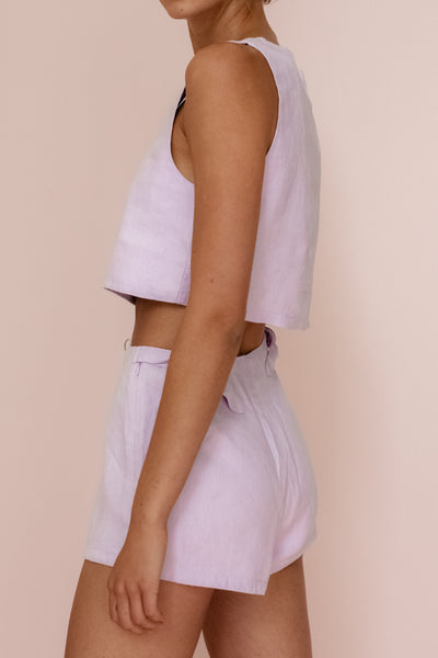 LOTTIE HOT PANT - LILAC