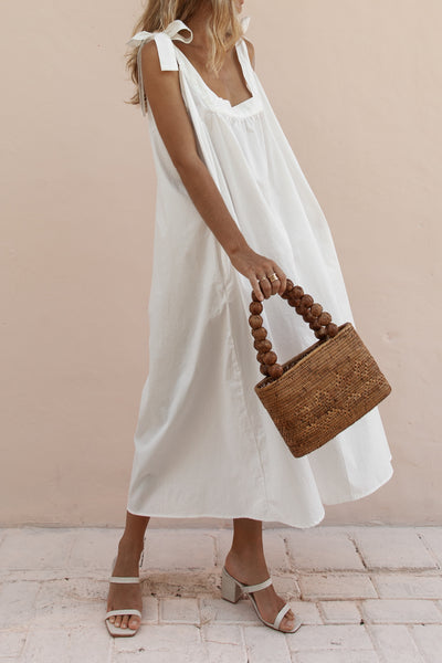 TORA MAXI DRESS - WHITE