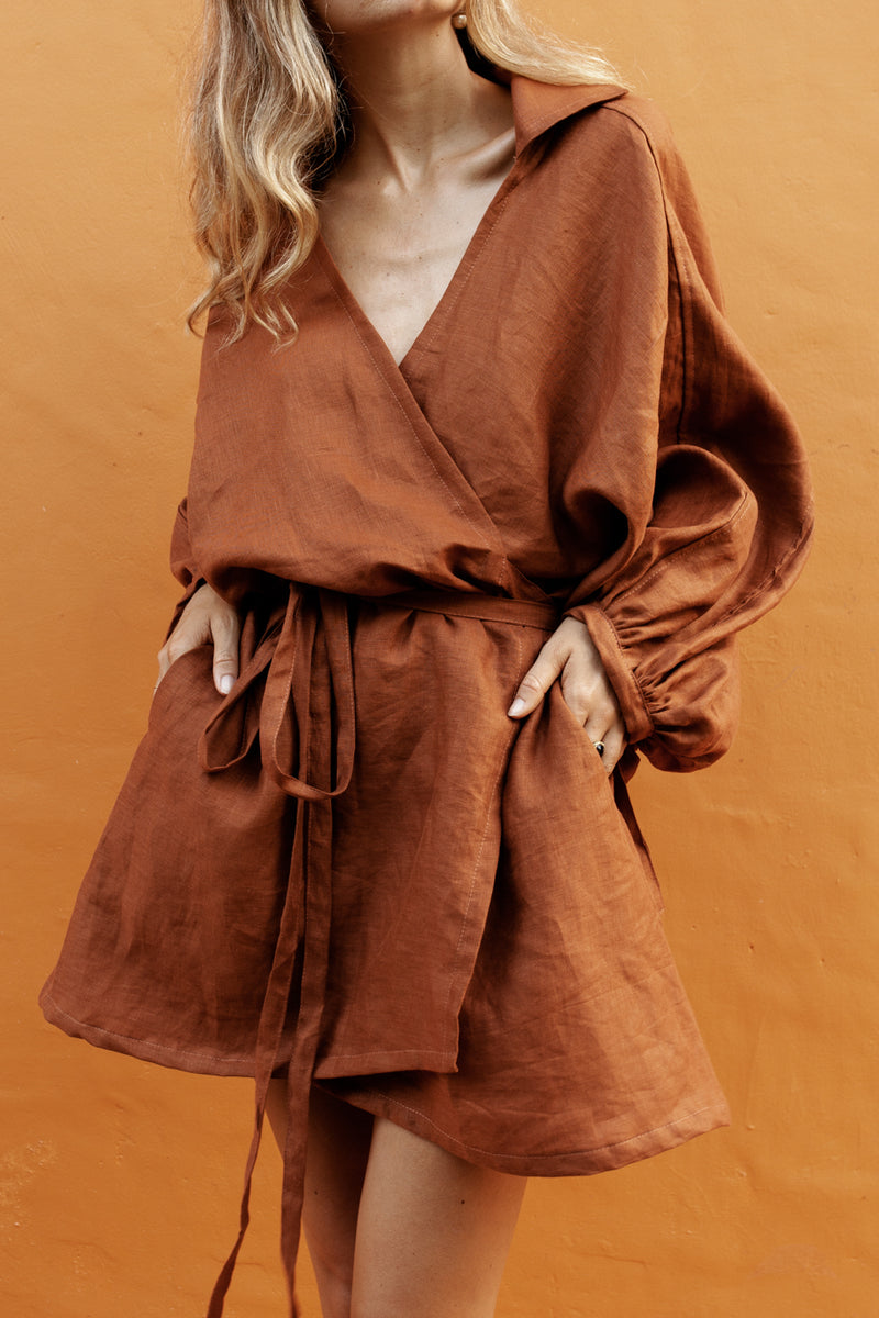 VALDIS DRESS - OCHRE