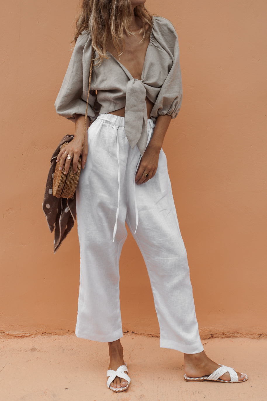 SIONA PANT - WHITE