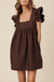 JUDE MINI DRESS - CHOCOLATE // PRE-ORDER