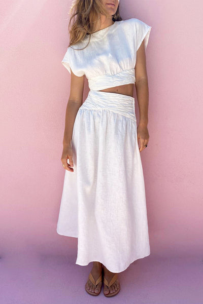 LUNA MIDI SKIRT - TOFU // LIMITED EDITION