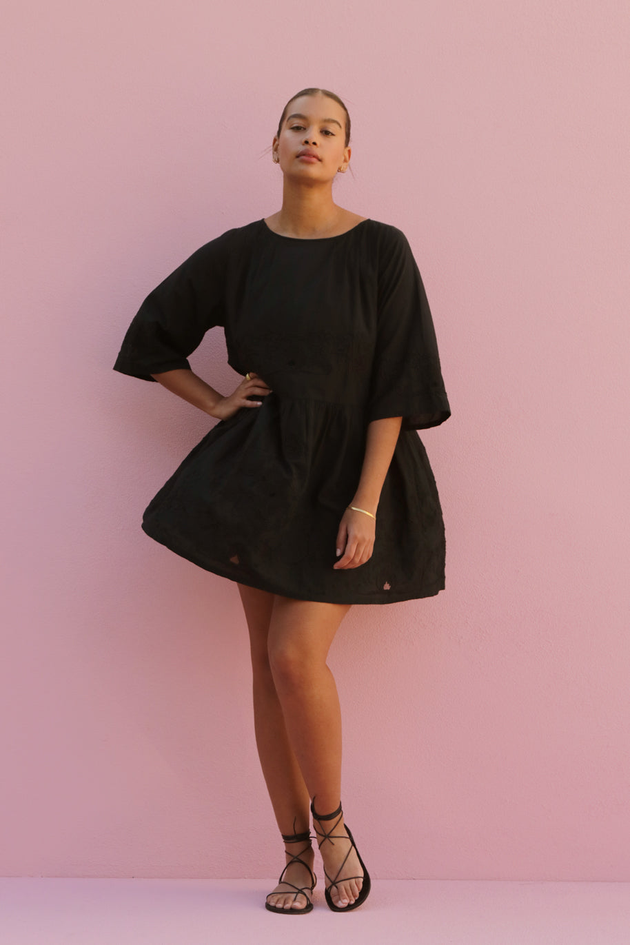 DOREEN MINI DRESS - BLACK