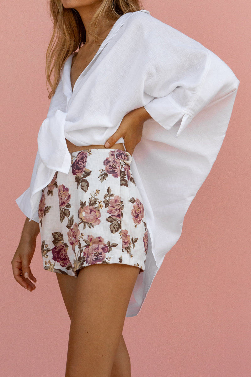 LOTTIE HOT PANT - ANTIQUE FLORAL