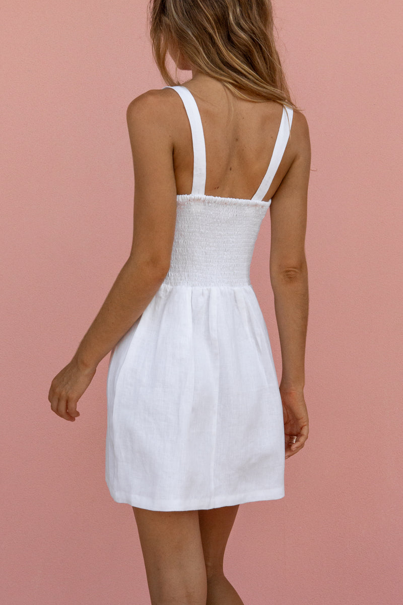 NINA MINI DRESS - WHITE