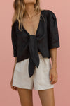 AGATHA BLOUSE - BLACK