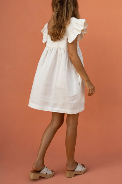 JUDE MINI DRESS - CLAY