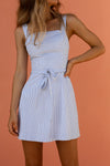 ALEXANDERA MINI DRESS - BLUE & WHITE STRIPE