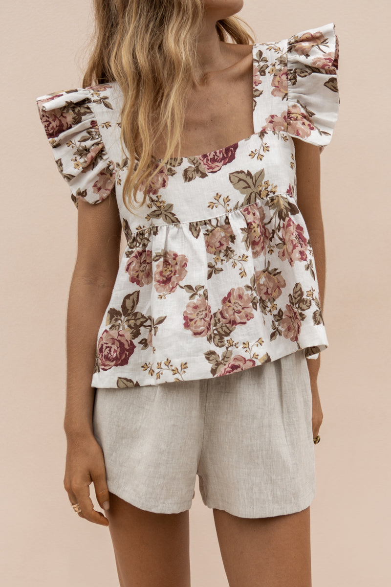 JUDE TOP - ANTIQUE FLORAL // PRE-ORDER