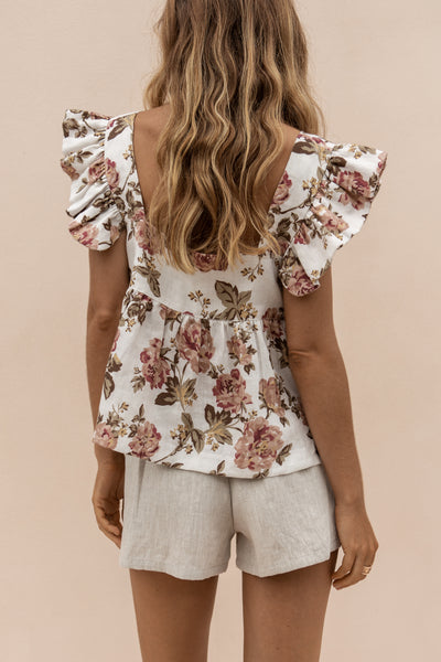 JUDE TOP - ANTIQUE FLORAL