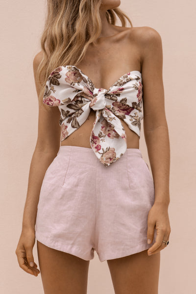 LOTTIE HOT PANT - DUSTY ROSE