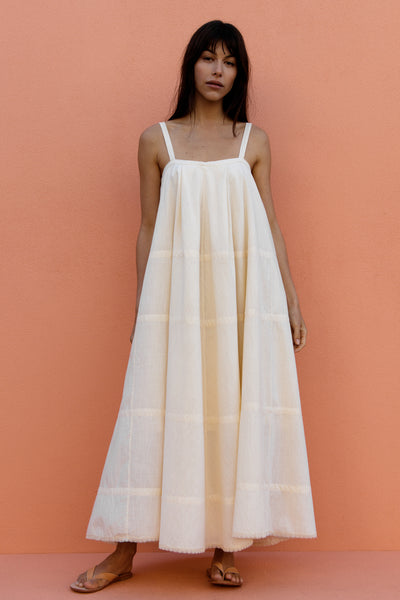 ODETTE DRESS - FRENCH VANILLA