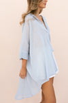 LULA SHIRT - PALE BLUE